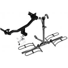 Trailer Tow Hitch For 18 Alfa Romeo Stelvio Except Quadrifoglio Platform Style 2 Bike Rack w/ Anti Rattle Hitch Lock
