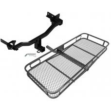 Trailer Tow Hitch For 18 Alfa Romeo Stelvio Except Quadrifoglio Basket Cargo Carrier Platform w/ Hitch Pin
