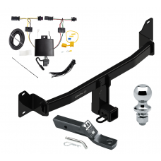 """Trailer Tow Hitch For BMW X2 Complete Package w/ Wiring and 1-7/8"""" Ball"""