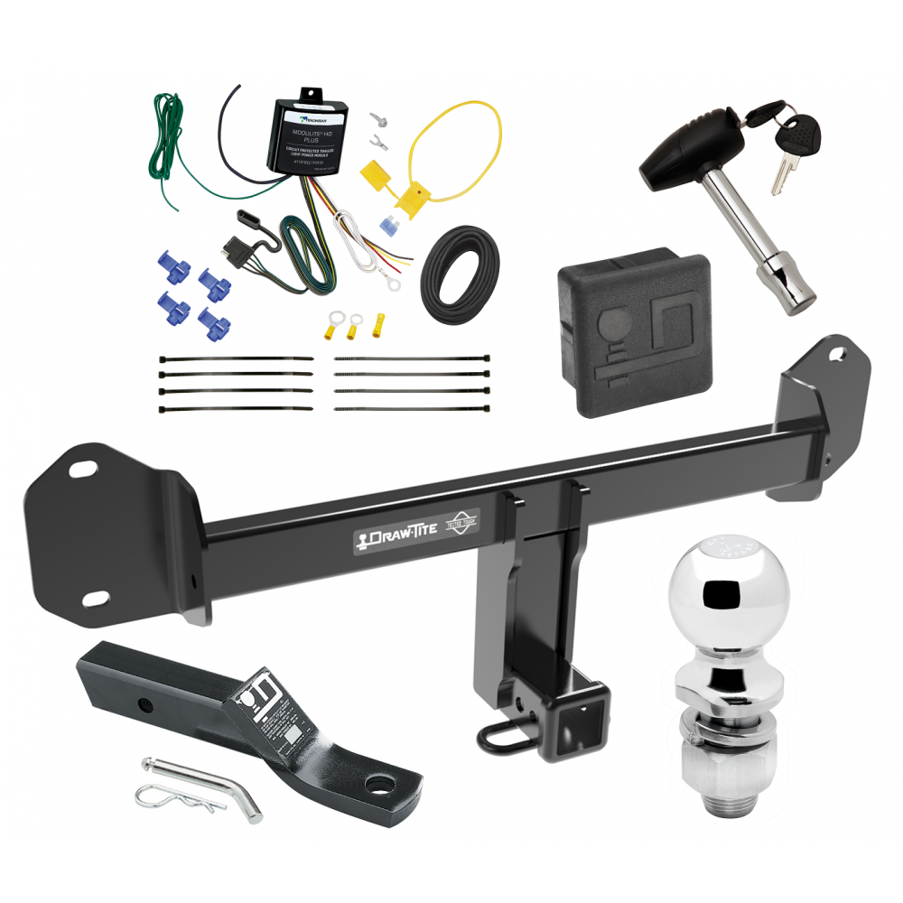 Trailer Tow Hitch For 11-19 BMW X3 Deluxe Package Wiring 2