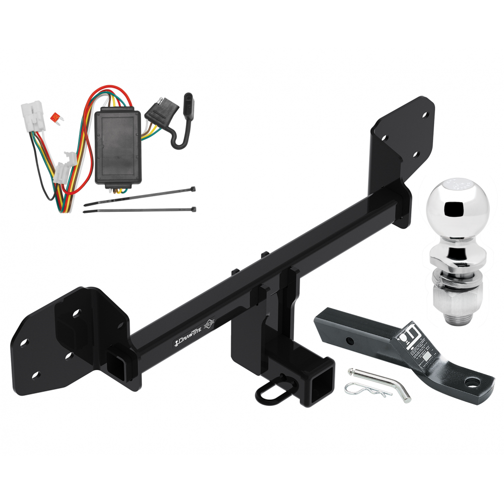 Trailer Tow Hitch For 10-19 Subaru Outback Wagon Except Sport Complete  Package w/ Wiring and 2