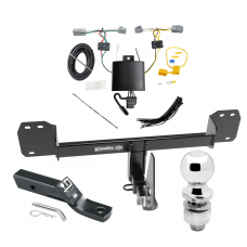 """Trailer Tow Hitch For 19 Volvo XC40 Complete Package w/ Wiring and 2"""" Ball"""