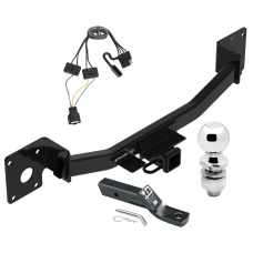 "Trailer Tow Hitch For 19-20 Cadilac XT4 Complete Package w/ Wiring and 2"" Ball"