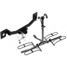 Trailer Tow Hitch For 19-20 Cadilac XT4 Platform Style 2 Bike Rack w/ Anti Rattle Hitch Lock