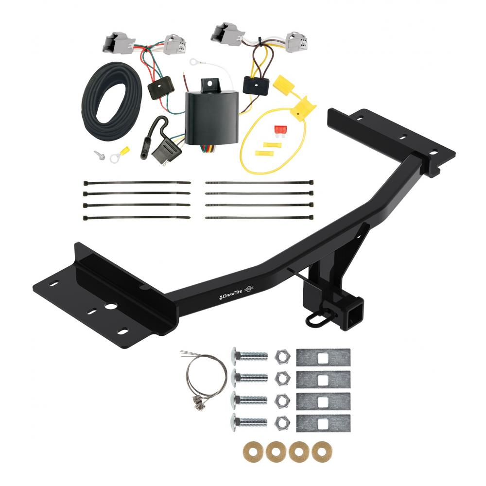 Trailer Tow Hitch For 20-21 Ford Explorer w/ Wiring Harness ... [ 1000 x 1000 Pixel ]