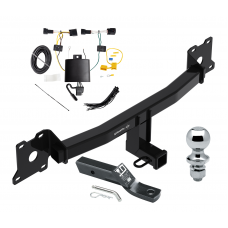 "Trailer Tow Hitch For 18-19 Jaguar E-Pace Complete Package w/ Wiring and 1-7/8"" Ball"