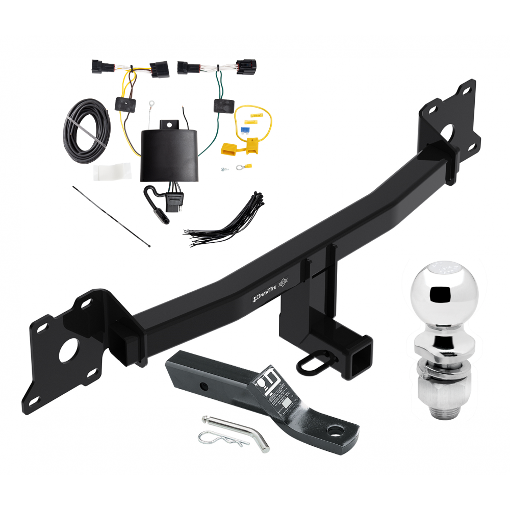 Trailer Tow Hitch For 18-19 Jaguar E-Pace Complete Package w/ Wiring on trailer plugs, trailer mounting brackets, trailer generator, trailer fuses, trailer brakes, trailer hitch harness,