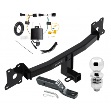 """Trailer Tow Hitch For 18-20 Jaguar E-Pace Complete Package w/ Wiring and 2"""" Ball"""