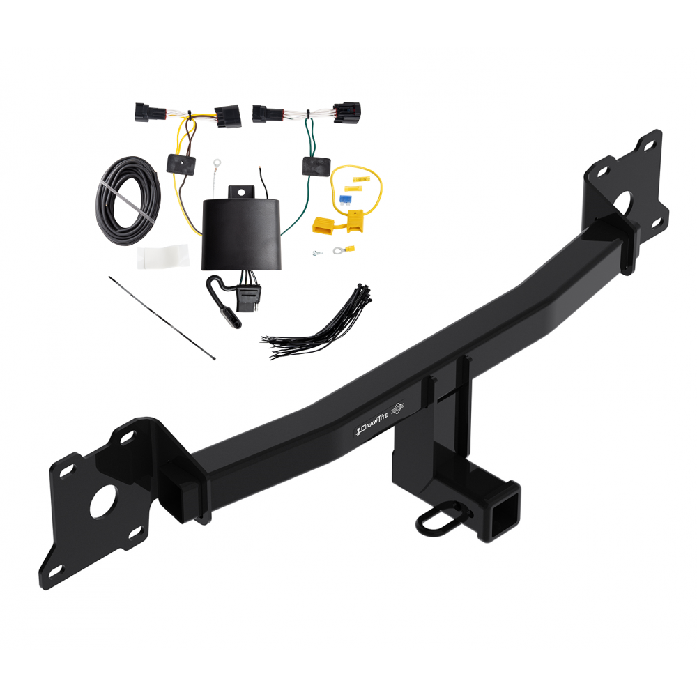 Trailer Tow Hitch For 18-19 Jaguar E-Pace w/ Wiring Harness Kit on trailer plugs, trailer mounting brackets, trailer generator, trailer fuses, trailer brakes, trailer hitch harness,
