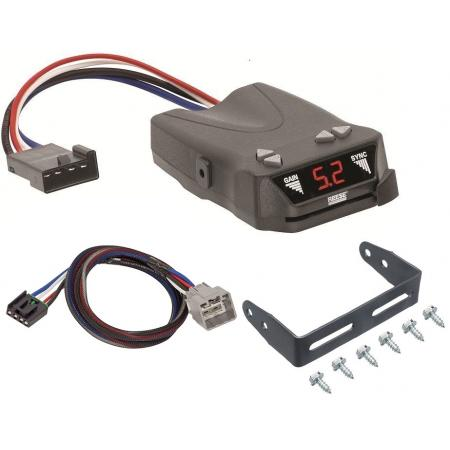 Trailer Brake Control for 15-19 RAM 1500 2500 3500 w/ Plug Play Wiring Adapter Reese Brakeman IV Eletric Trailer Brakes Module Box Controller