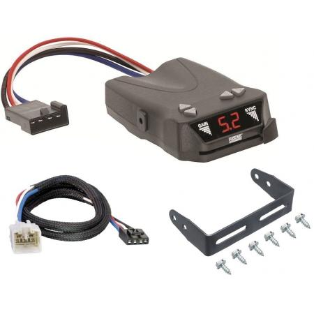 Trailer Brake Control for 03-14 Toyota Tundra w/ Plug Play Wiring Adapter Reese Brakeman IV Eletric Trailer Brakes Module Box Controller