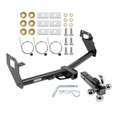 """Reese Trailer Tow Hitch Receiver For 16-18 FIAT 500X w/Tri-Ball Triple Ball 1-7/8"""" 2"""" 2-5/16"""""""