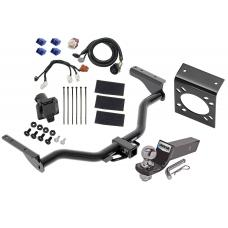 "Reese Complete Tow Package For 13-19 Nissan Pathfinder 14-19 Infiniti QX60 w/ 7-Way RV Wiring Harness Kit 2"" Ball and Mount Bracket 2"" Receiver Class 3"