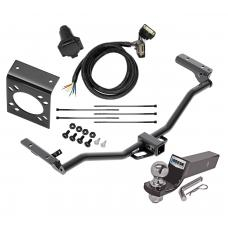 "Reese Complete Tow Package For 11-19 Ford Explorer w/ 7-Way RV Wiring Harness Kit 2"" Ball and Mount Bracket 2"" Receiver Class 3"