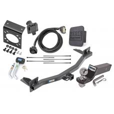 "Reese Deluxe Package For 18-20 Chevy Traverse Buick Enclave w/ 7-Way RV Wiring Harness Kit 2"" Ball and Mount Bracket 2"" Receiver Class 3"