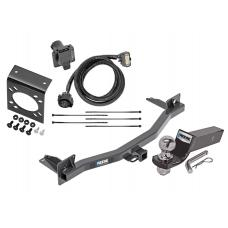 "Reese Complete Tow Package For 18-20 Chevy Traverse Buick Enclave w/ 7-Way RV Wiring Harness Kit 2"" Ball and Mount Bracket 2"" Receiver Class 3"