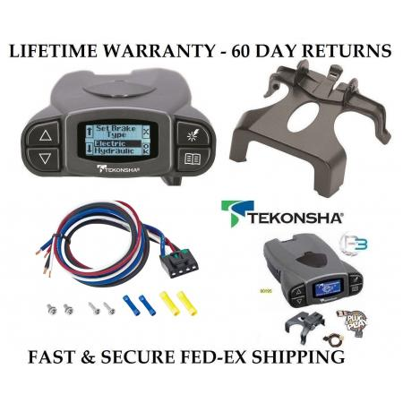 Tekonsha Prodigy P3 Electric Brake Controller Control Module Trailer Brakes Towing Kit Box System Truck Car SUV 90195