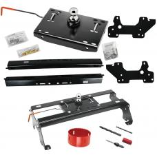 "Draw-Tite Gooseneck Trailer Hitch w/ Hole Saw for 03-12 Dodge Ram 2500 3500 06-08 1500 Mega Cab Turnover w/ Brackets Rails Under Bed 2-5/16"" Ball"