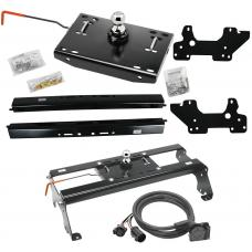 "Draw-Tite Gooseneck Trailer Hitch w/ In-Bed Wiring for 03-12 Dodge Ram 2500 3500 06-08 1500 Mega Cab Turnover w/ Brackets Rails Under Bed 2-5/16"" Ball"