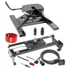 "Draw-Tite Gooseneck Trailer Hitch Kit Deluxe w/ 18K 5th Fifth Wheel Adapter In-Bed Wiring and Hole Saw for 02-08 Dodge Ram 1500 Turnover w/ Brackets Rails Under Bed 2-5/16"" Ball Excluding Mega Cab"