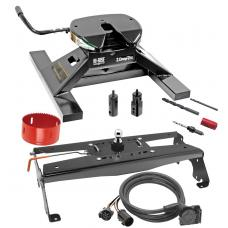 "Draw-Tite Gooseneck Trailer Hitch Kit Deluxe w/ 18K 5th Fifth Wheel Adapter In-Bed Wiring and Hole Saw for 10-13 Dodge Ram 2500 10-12 3500 Turnover w/ Brackets Rails Under Bed 2-5/16"" Ball"