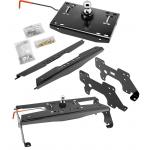 "Draw-Tite Gooseneck Trailer Hitch for 10-13 Dodge Ram 2500 10-12 3500 Turnover w/ Brackets Rails Under Bed 2-5/16"" Ball"
