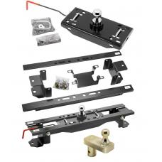 "Draw-Tite Gooseneck Trailer Hitch w/ 5"" Offset Ball for 07-17 Toyota Tundra Turnover w/ Brackets Rails Under Bed 2-5/16"" Ball"