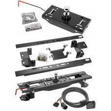 "Draw-Tite Gooseneck Trailer Hitch w/ In-Bed Wiring for 07-17 Toyota Tundra Turnover w/ Brackets Rails Under Bed 2-5/16"" Ball"