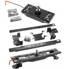 "Draw-Tite Gooseneck Trailer Hitch for 07-17 Toyota Tundra Turnover w/ Brackets Rails Under Bed 2-5/16"" Ball"