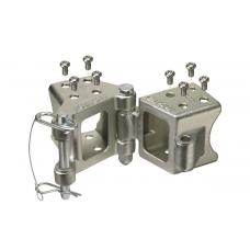 "Fulton Fold-Away Bolt-On Hinge Kit w/ 48"" Pivot Length-  3"" x 3"" Trailer Tongues - 5,000 lbs."