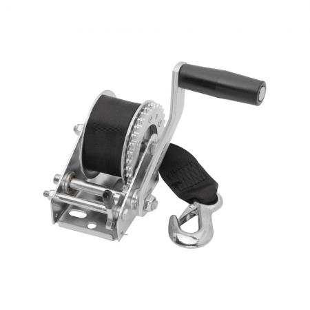 "Fulton Trailer Winch 900 Lbs. w/12 ft Strap 6"" Manual Handle Crank Marine Sale Boat Personal Watercraft"