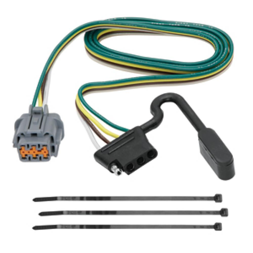 trailer wiring harness kit for 05-20 nissan frontier 05-07 pathfinder 05-15  xterra 09-12 equator  trailer jacks