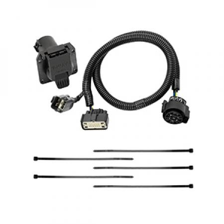 7-Way RV Trailer Wiring Harness Kit For 17-19 Cadillac XT5 GMC Acadia All Styles