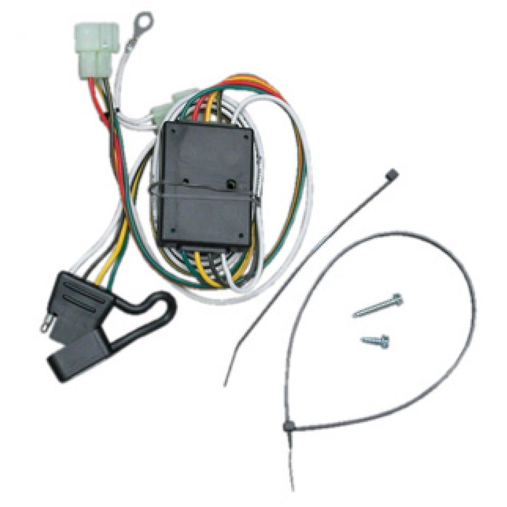 Trailer Wiring Harness Kit For 96-97 Lexus LX450 Toyota Land Cruiser on 4 point wiring harness, 4 flat wiring adapter, molded connector 6-way trailer harness, 4 flat mounting bracket, 4 flat connector, toyota sequoia 2001 2007 towing harness, 4 flat engine, 3 flat wiring harness, 7 flat wiring harness, 4 flat tires,