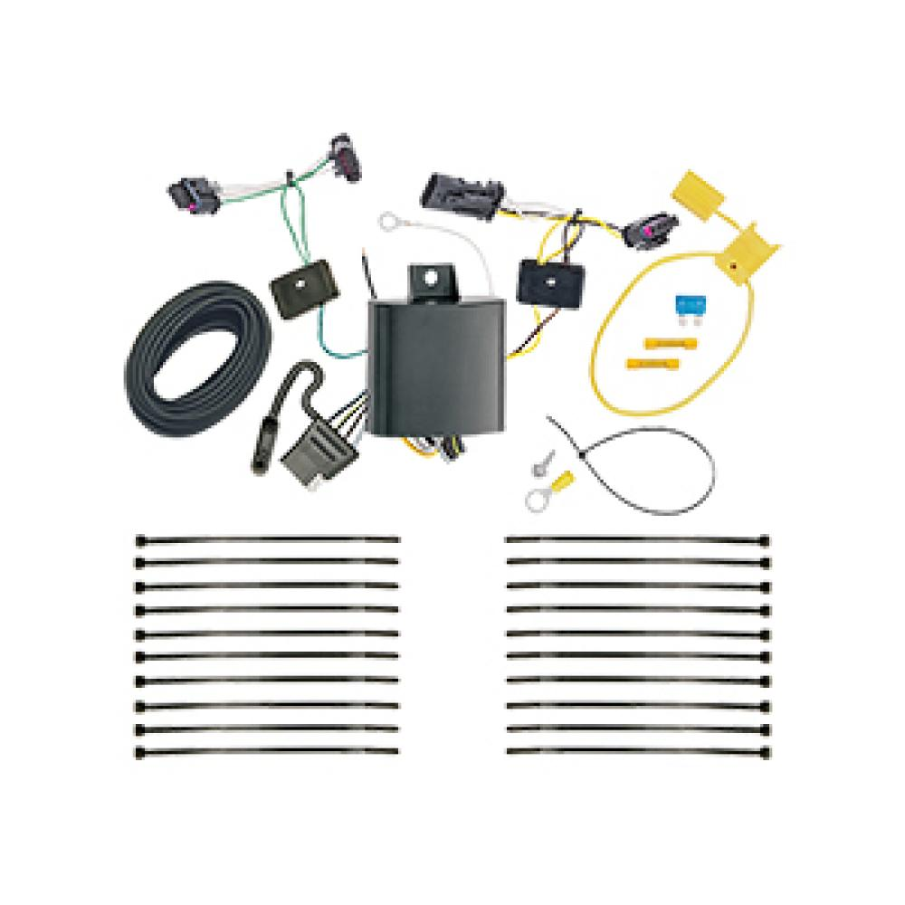 Trailer Wiring Harness Kit For 17-20 Jeep Comp (New Body Style) on jeep trailer accessories, jeep cold air intake, jeep alternator wiring, jeep trailer hitch, jeep trailer lights, jeep seat covers, jeep trailer brake controller, jeep towing, jeep electrical harness, jeep door locks, jeep ignition switch, jeep instrument cluster,