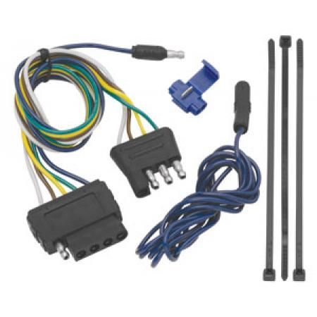 4-Flat Wiring Harness Tow Plug Kit to 5-Flat Connector Assembly