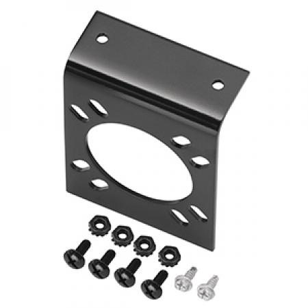 Mounting Bracket for 7-Way RV Round Tow Plug Harness OEM Connectors, Includes Screws and Nuts