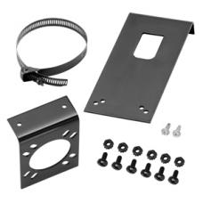 7-Way RV Round Tow Plug Harness US Car Mounting Bracket with Universal Mounting Bracket and Clamp (Long) (Includes Screws and Nuts)