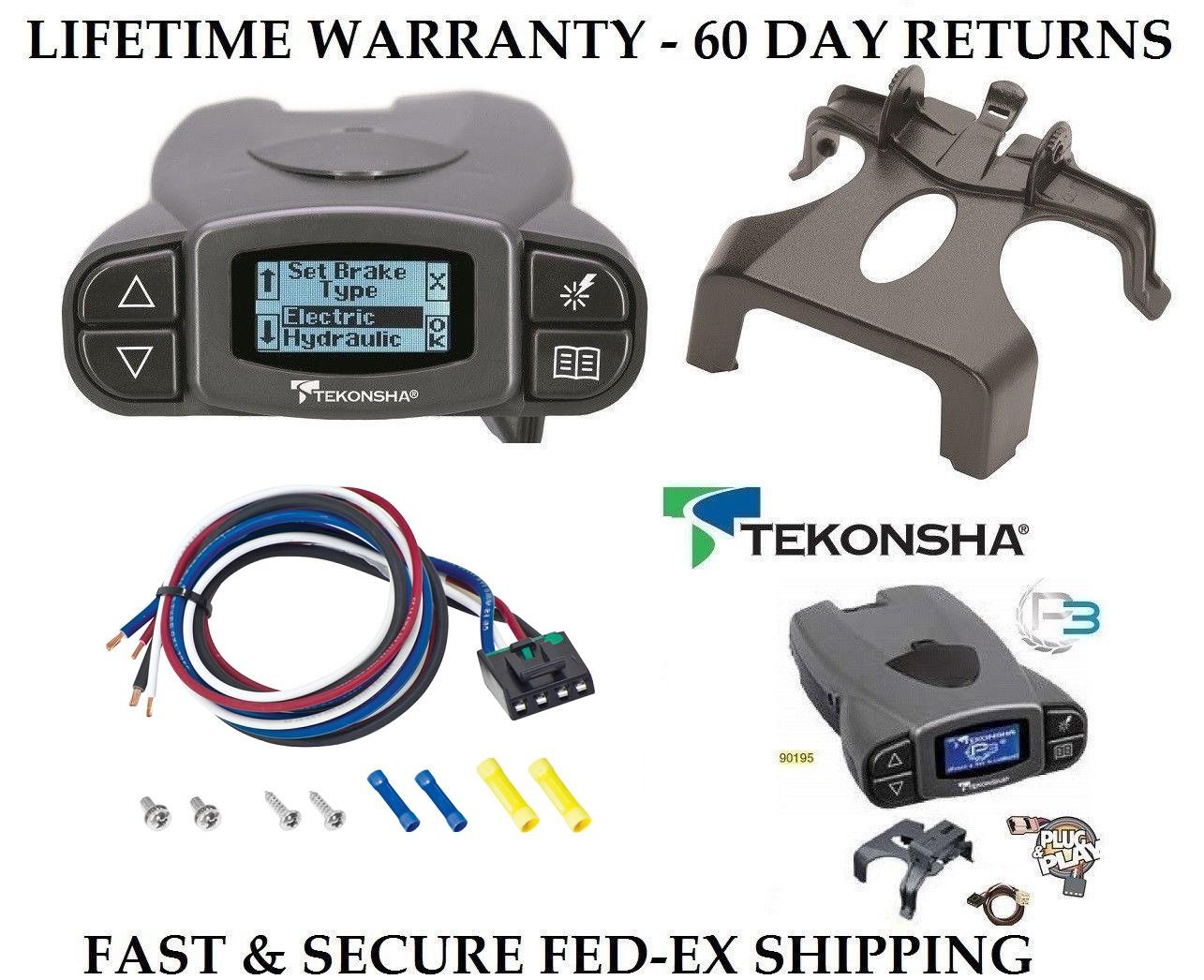 Tekonsha Prodigy P3 Electric Brake Controller Control Module Trailer Brakes Towing Kit Box System Truck Car SUV 90195