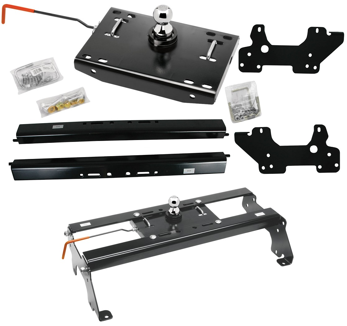 2003-2012 Dodge Ram 2500 3500 Underbed Gooseneck Trailer Hitch Kit - Rails + Head